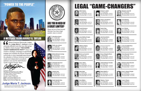 "PAGES 32 AND 33 - HOUSTON BUSINESS CONNECTIONS MAGAZINE© ""STRATEGIC VOTER"" MOBILIZATION PROJECT"