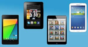 Komparasi New Nexus 7, iPad Mini, Kindle Fire HD, dan Galaxy Tab 3 7.0