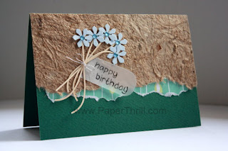 Handmade summer floral bouquet greeting cards