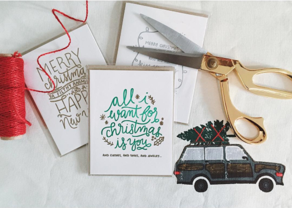 Some of my favorite christmas cards a giveaway a tiny traveler each card comes with an envelope and is packaged so nicely i love the colors and style its especially fun when youre just browsing small shops on etsy m4hsunfo