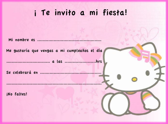 Invitaciones cumpleaños Hello Kitty : Locos por Hello Kitty