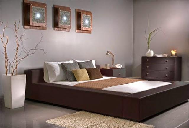 Desain tempat tidur ruang luas modern sederhana