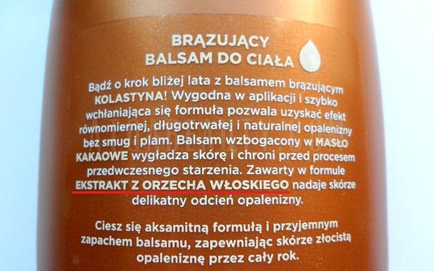 Kolastyna, Brązujący balsam do ciała