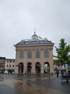 The newly refurbished old County Hall in Abingdon-on-Thames. Ready for the Bun Throwing