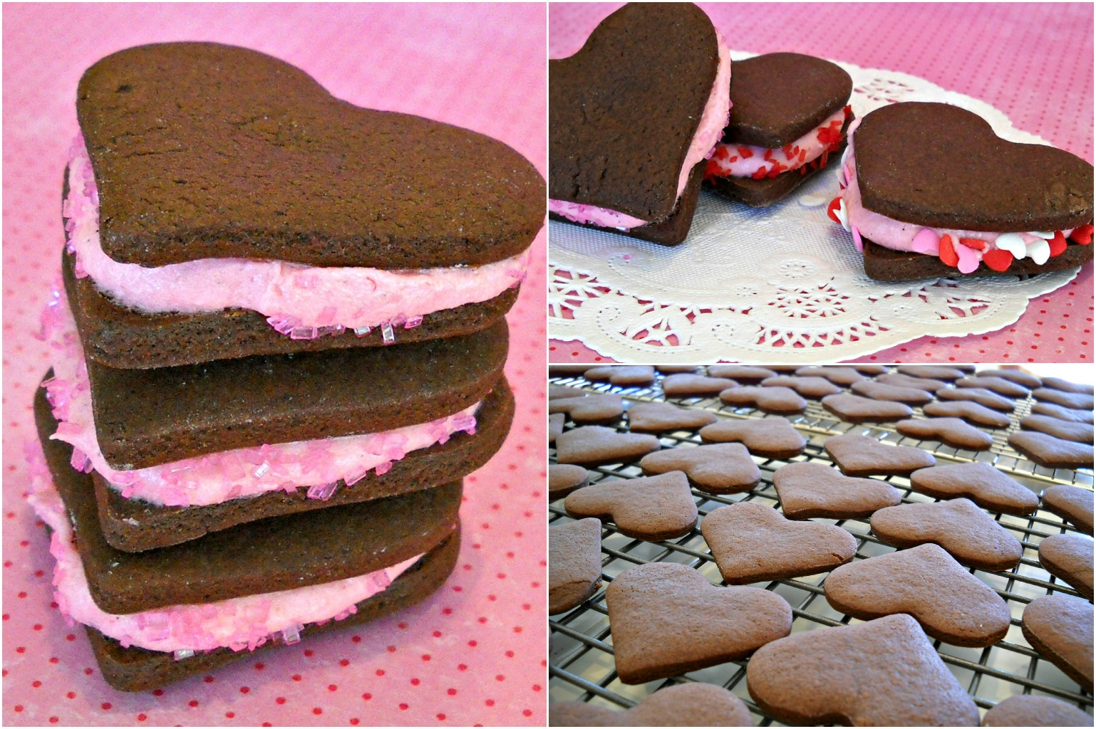 Bake It With Booze!: Chocolate Heart Sandwich Cookies