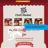 Green cart :Free Rs. 150 BookMyShow Voucher with Chef's Basket Recipe Kit {Mumbai, Navi Mumbai & Thane} :Buytoearn