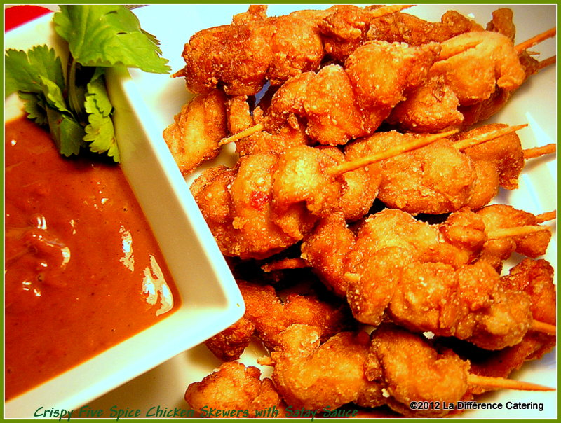 ... Difference Catering: Crispy 5 Spice Chicken Skewers with Satay Sauce
