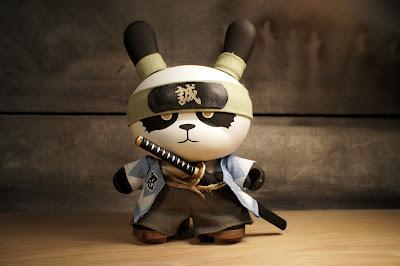 "Ornery Panda Shinsengumi Custom 8"" Dunny by Huck Gee"