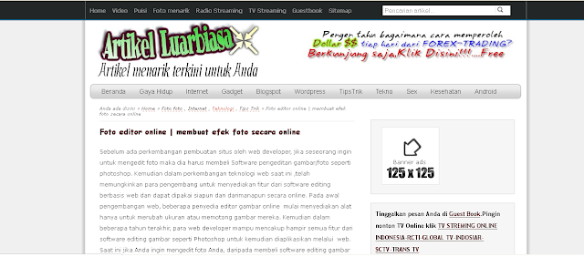 template blogger fast loading