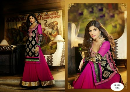 Shilpa Shetty in Anarkali Suit 2015 Collection