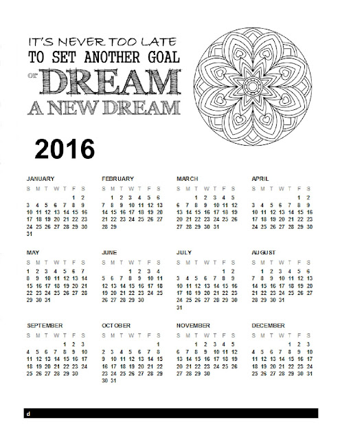 Calendar Coloring Page