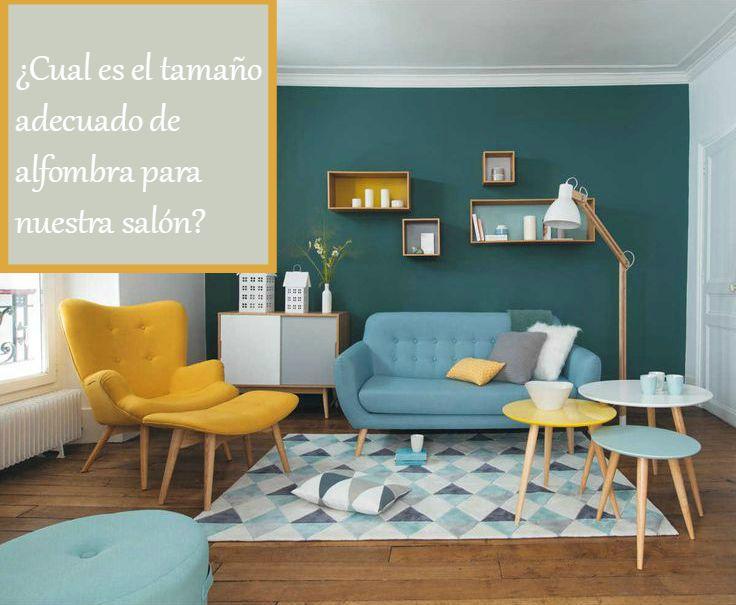 Como elegir el tama o adecuado de alfombra para el sal n - Salones con alfombras ...