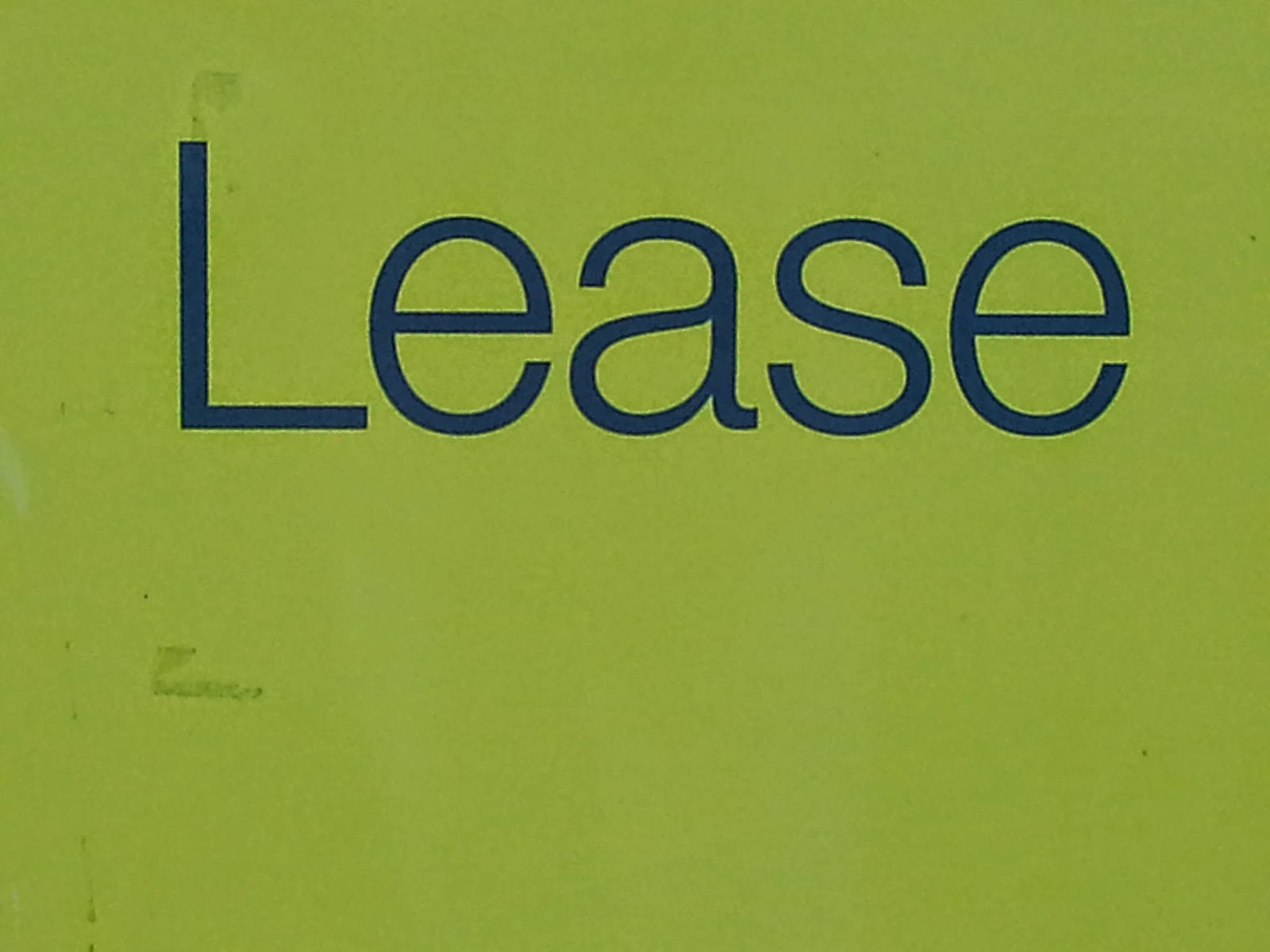 Photo of Lease sign