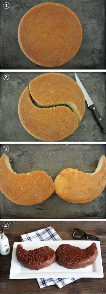 Torta a forma di baffi | Moustaches cake