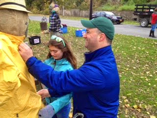 Dr. Jason White and Family Build a Scarecrow