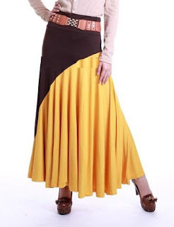 Skirt Labuh Kembang Umbrella 655 - Brown Mustard