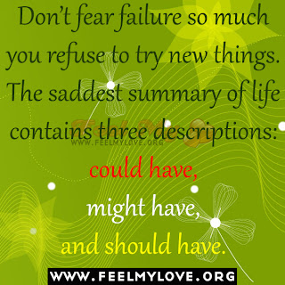 Don't fear failure so much