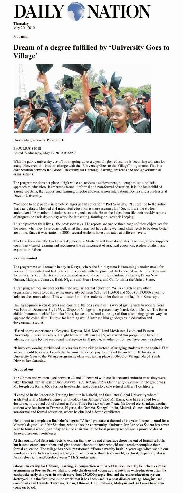 肯亚国家日报报导 Kenya Press
