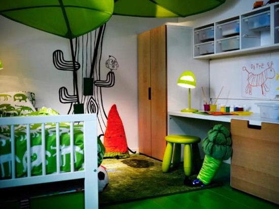 hopskoch: IKEA kids rooms- not big , just smart