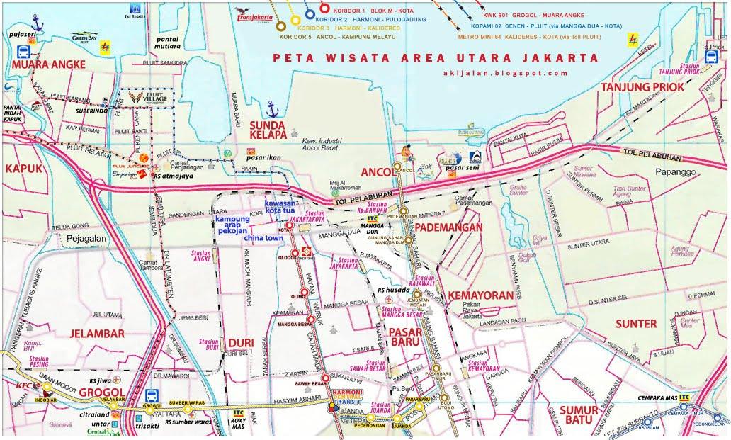 Peta Jakarta Utara