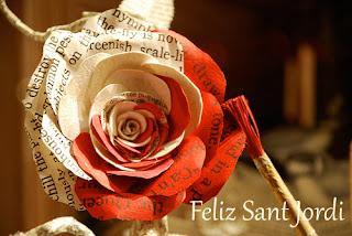 palabras en una rosa