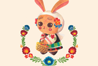 The Cute Bunny in Polish Costume Illustration by Haidi Shabrina