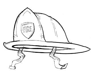 Dibujos de profesiones casco de bombero jardinero mecánico para