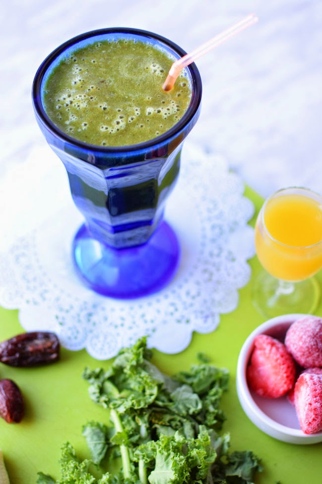 orange kale smoothie