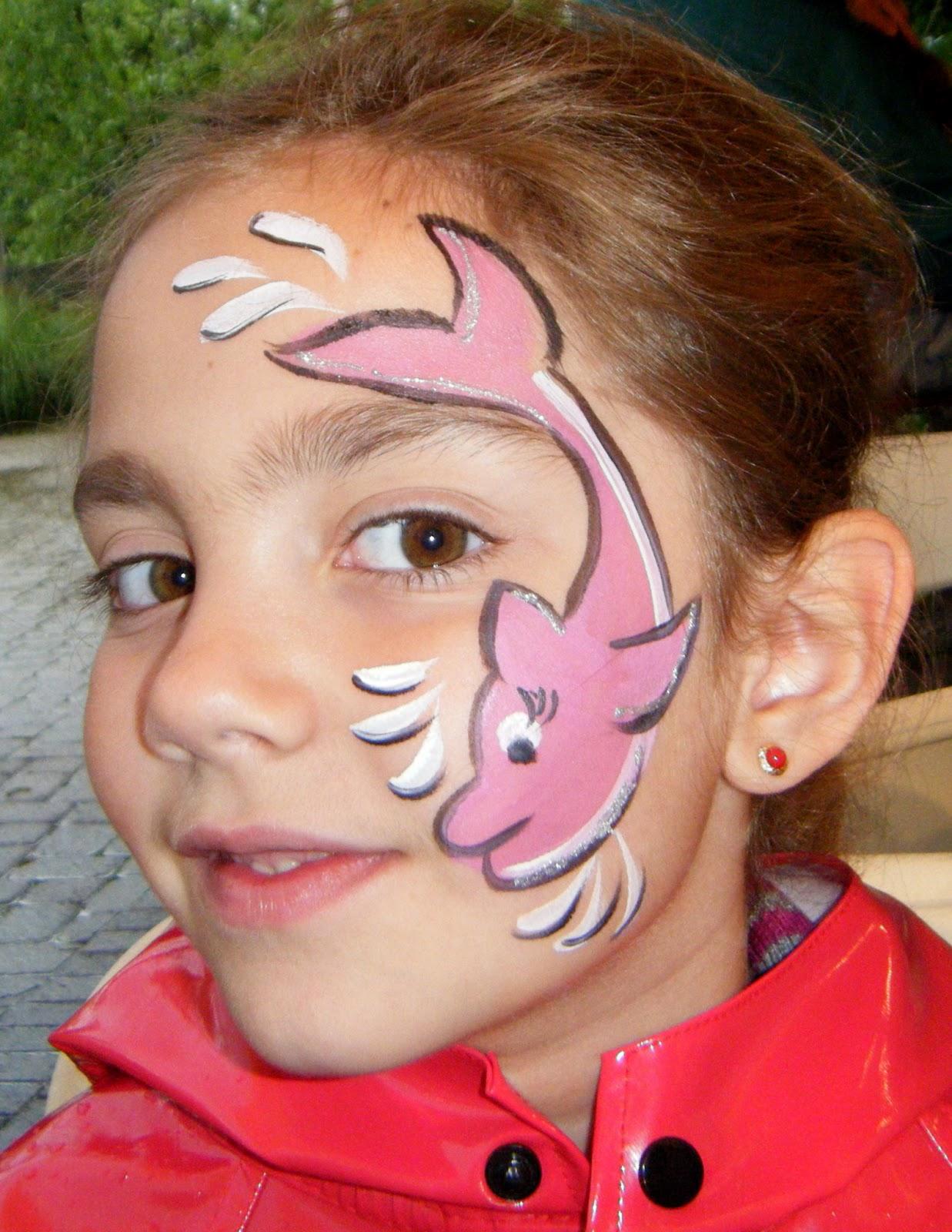 Простой рисунок на лице для детей своими руками