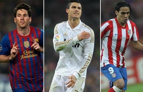 Messi, Cristiano y Falcao, los mejores del mundo