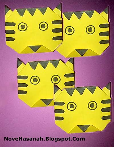 origami harimau untuk anak SD kelas 1