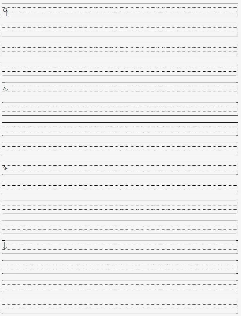Alfabeto Minúsculo - Letras para Caligrafia qrst