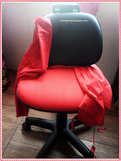 como reformar cadeira de computador com tecido