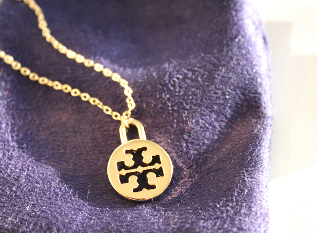 tory burch logo necklace