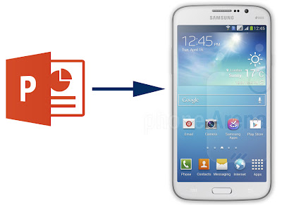 powerpoint to galaxy mega 5.8