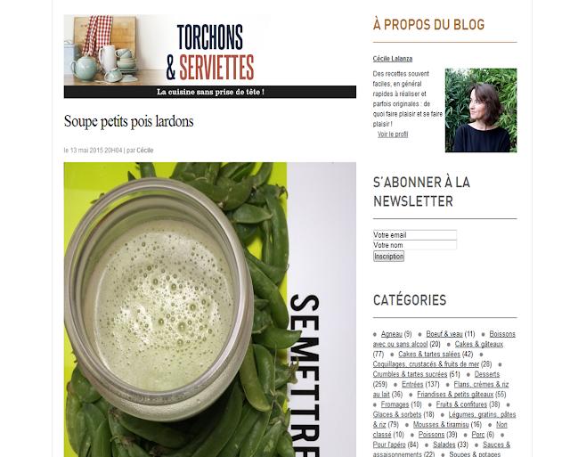 http://blogs.cotemaison.fr/torchons-serviettes/2015/05/13/soupe-petits-pois-lardons/
