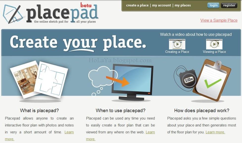 Placepad crear planos de vivienda holaya for Hacer plano de vivienda