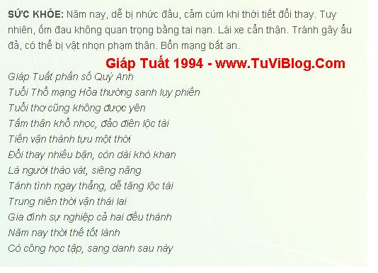 Giap Tuat 1994 Nam Mang