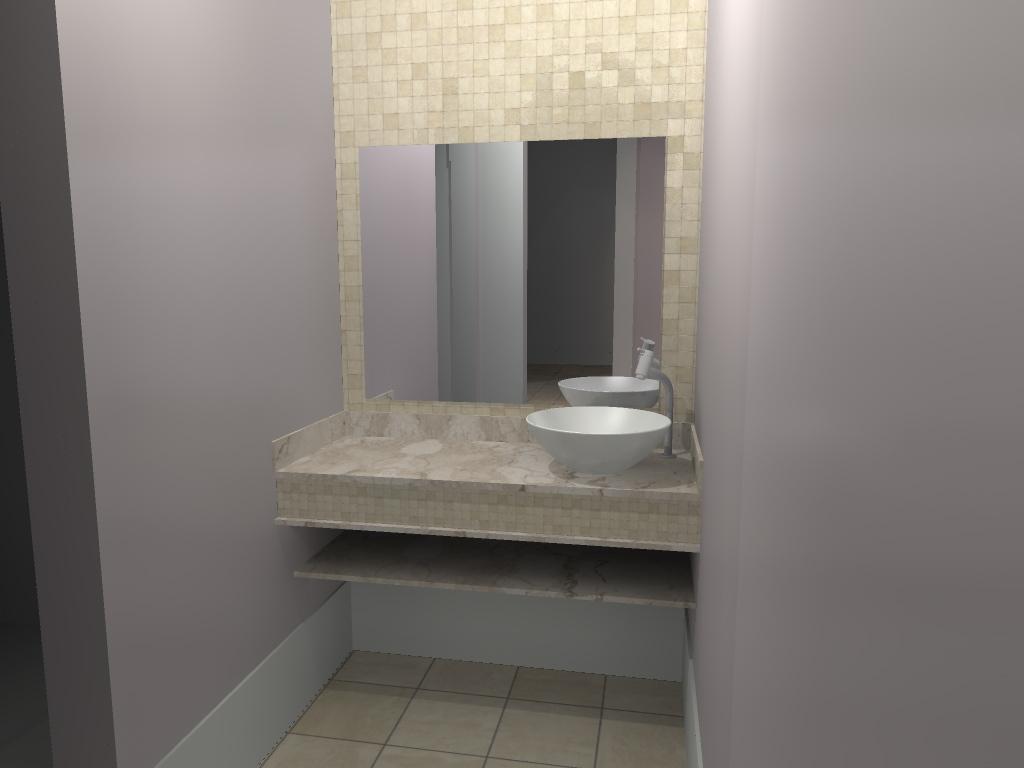 #7E6B4D Banheiro com lavabo independente Reforma e ampliação de Resid  1024x768 px Banheiros Pequenos E Lavabos 343