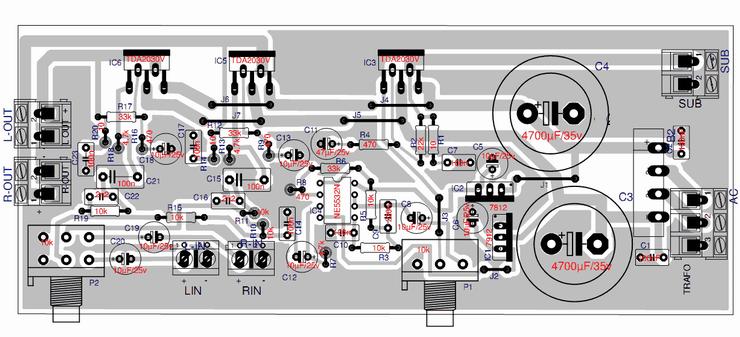 merahdelima audio amplifier tda2030 2 1 channel