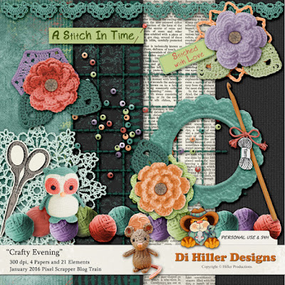 Crafty Evening Freebie by Di Hiller