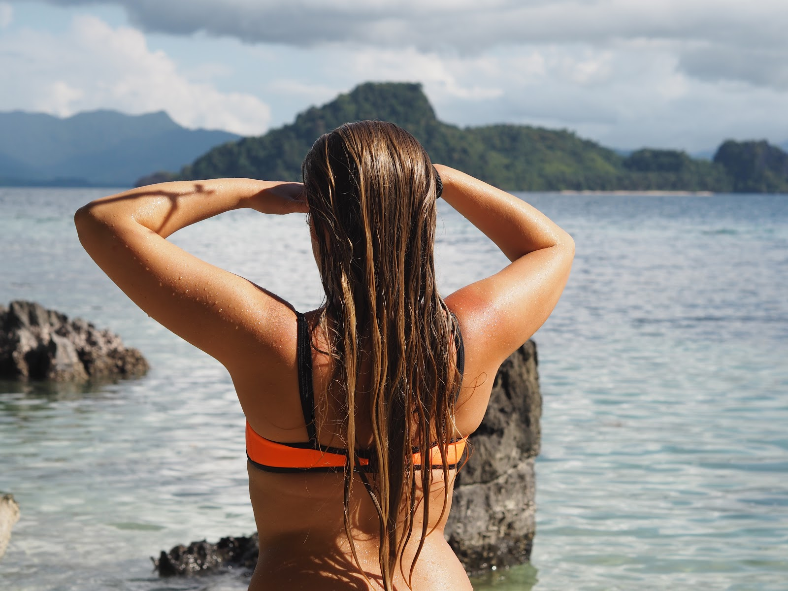 girl looking out to sea