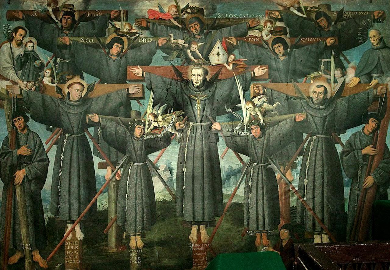 Mártires de Nagasaki, quadro em Cusco, Peru