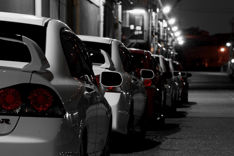 Honda Civic Type R FD2, VTEC is kicking in, kultowy samochód, znany, pasja, K20, zdjęcia nocą