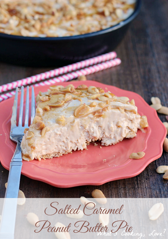 Salted Caramel Peanut Butter Pie