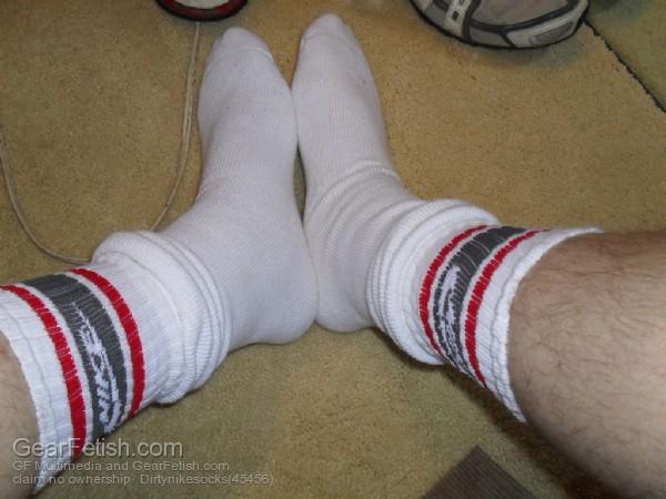 Cool Sox Nike Tube Socks Grey And Red Stripes