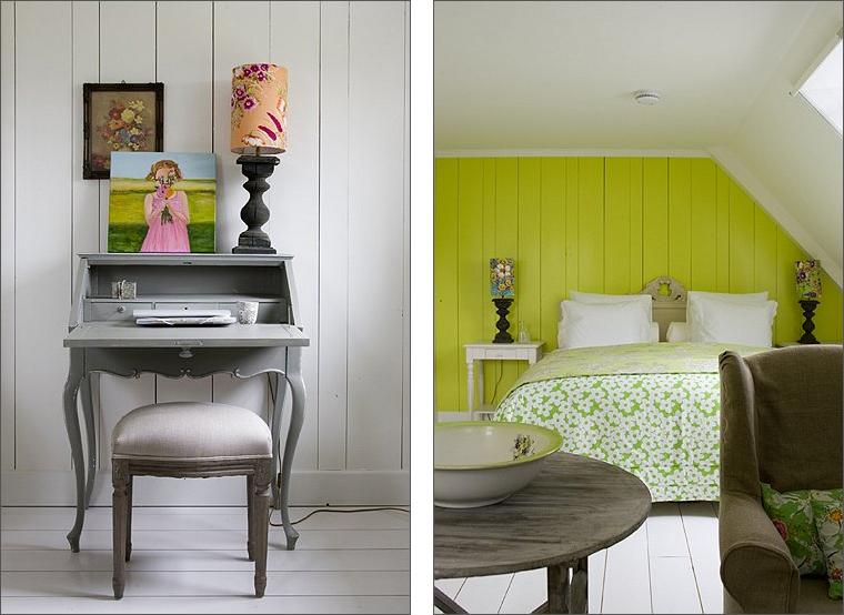 pareti fucsia e verde acido: colori per le pareti la primavera ... - Parete Soggiorno Verde Acido 2