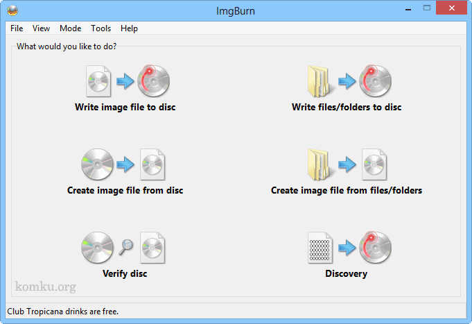 ImgBurn DVD and Blu-ray Burner Software