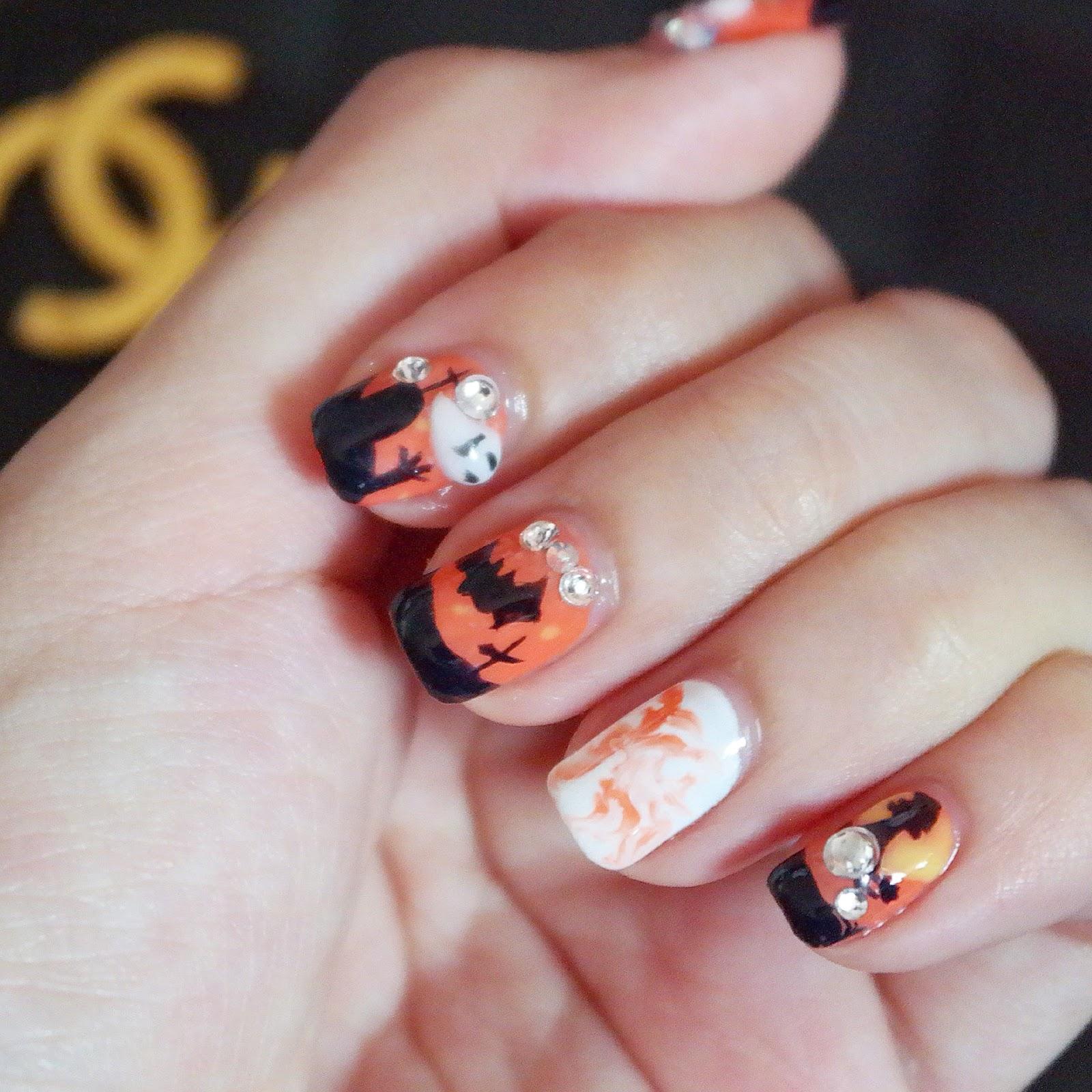 OYHZ (Hui Zi): StagelookNails - Halloween!