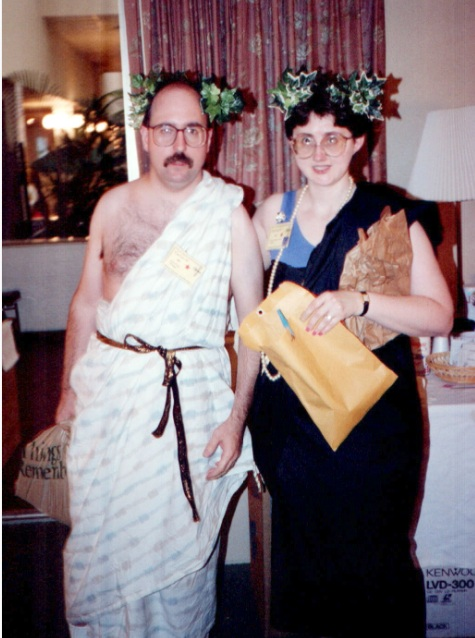with me in the classic Roman Holiday toga There was a wedding
